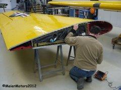 CCF Harvard MkIV D-FXXX - MeierMotors - Rissprüfung am Tragwerk mit Ultraschall