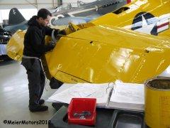 CCF Harvard MkIV D-FXXX - MeierMotors - Anbau des Höhenleitwerkes