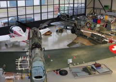 EKW C-3603-1 D-FRBI, Yak-11 D-FYWM, Spitfire T9 D-FMKN - Januar 2013