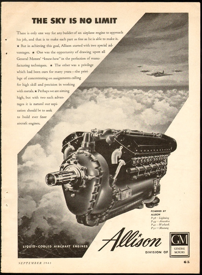 AD 1943 allison engine