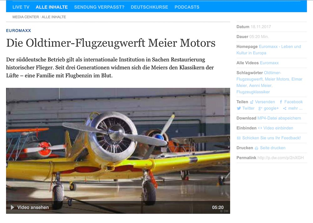 MeierMotors Deutsche Welle 12 2017